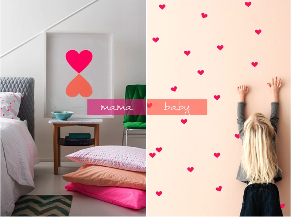 """mini heart wall stickers"""
