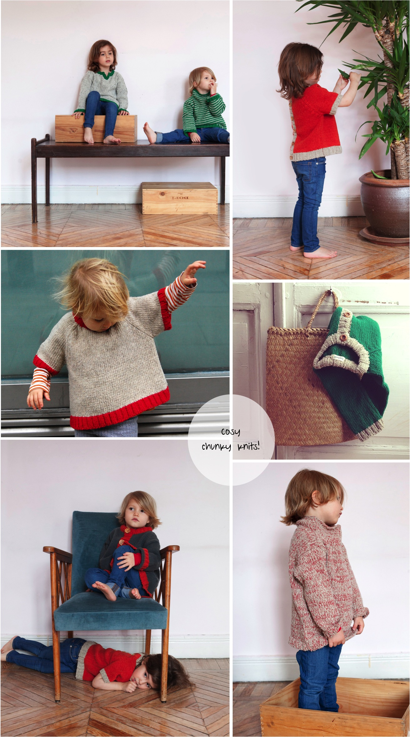 """chunky knit sweaters for kids"""