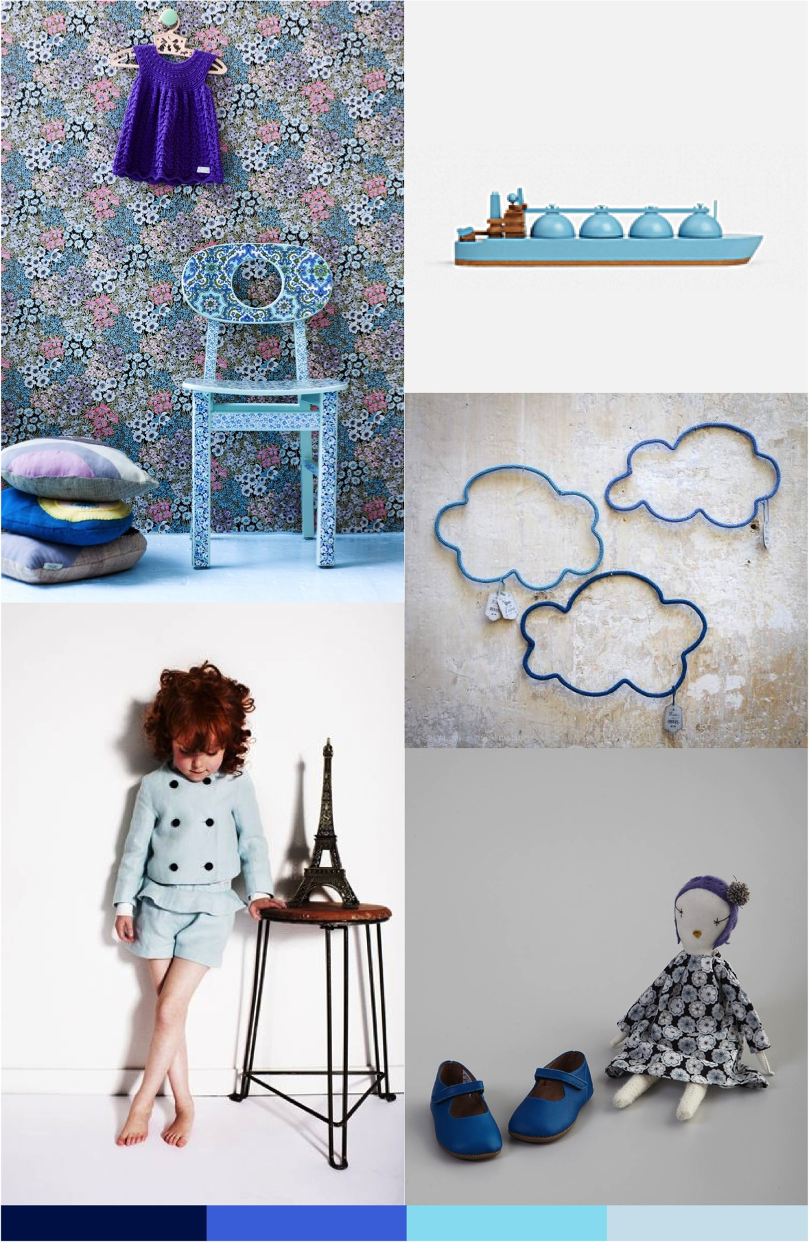 """shades of blue mood board"""