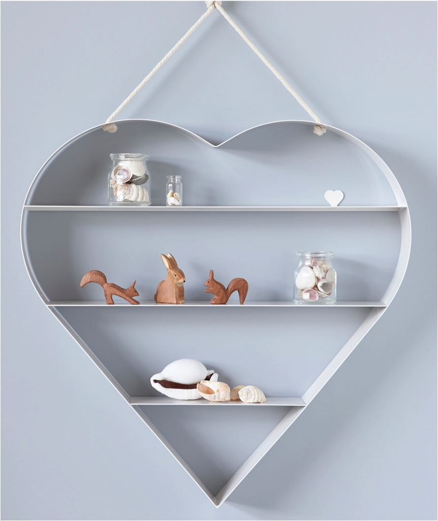 """heart storage shelf for kids room"""