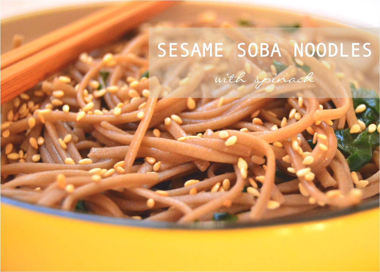 """sesame soba noodles recipe"""