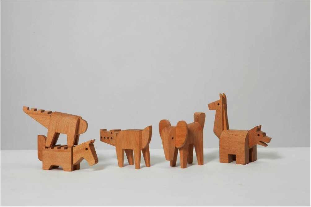 """wooden animal toys to build"""
