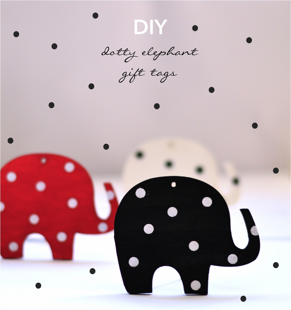"""DIY elephant gift tags"""