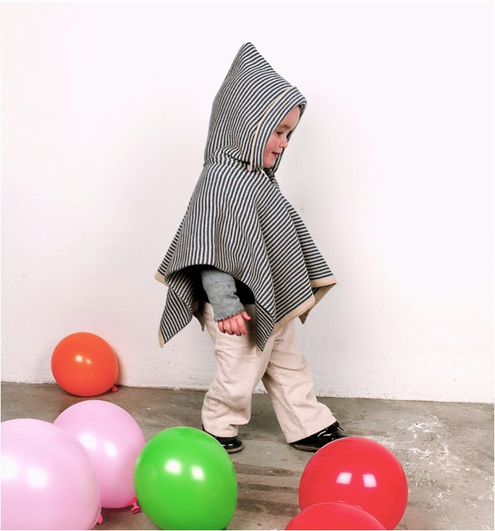 """cotton knit baby poncho"""