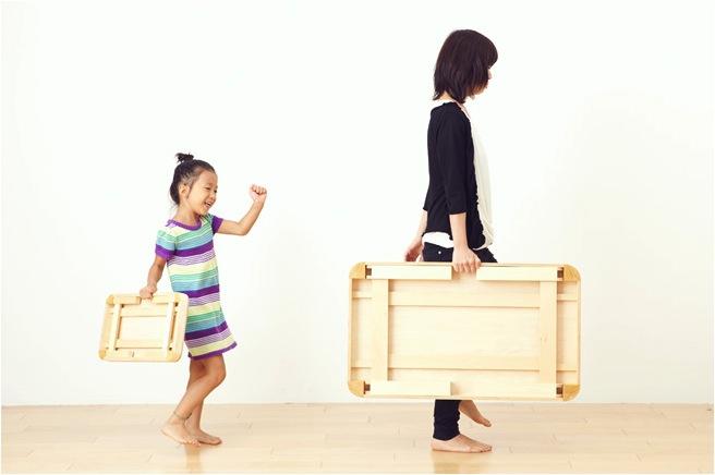 """""""mini wooden folding table"""""""