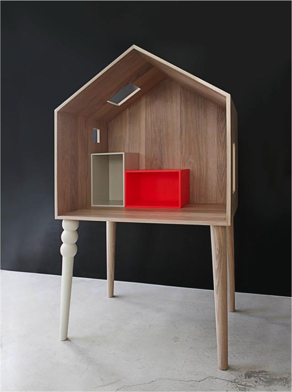 """modern dolls house in wood"""