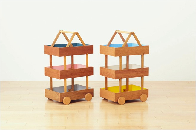 """""""wooden toy storage trolley"""""""