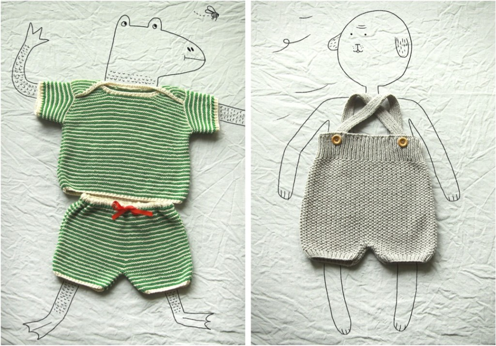 """hand knitted baby clothes"""