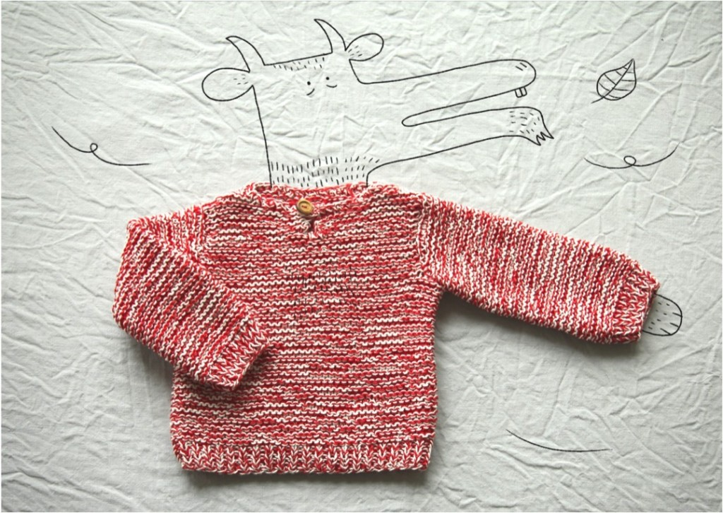 """hand knitted baby sweater"""