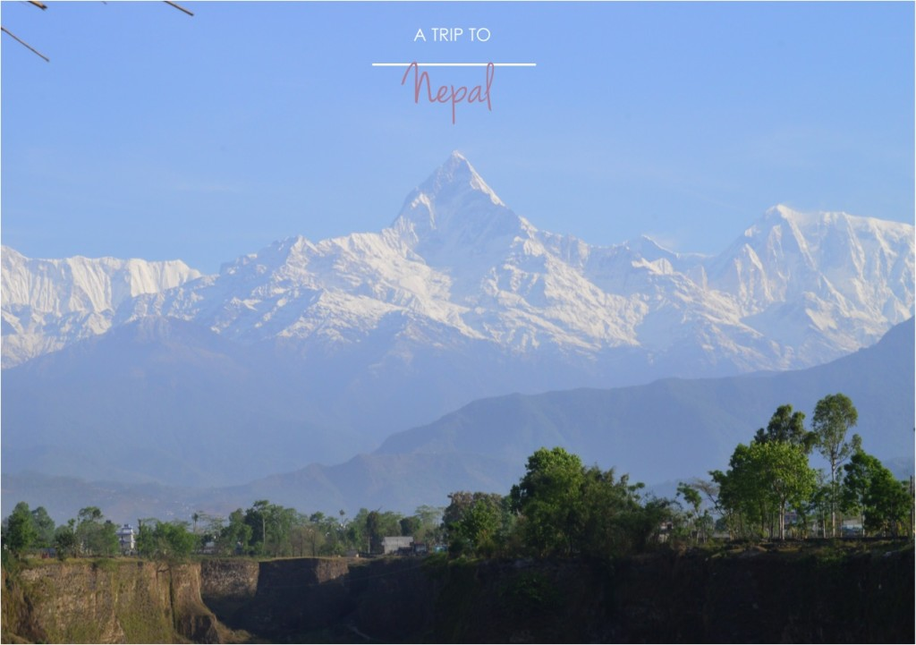 """view of himalayas from Pokhara"""