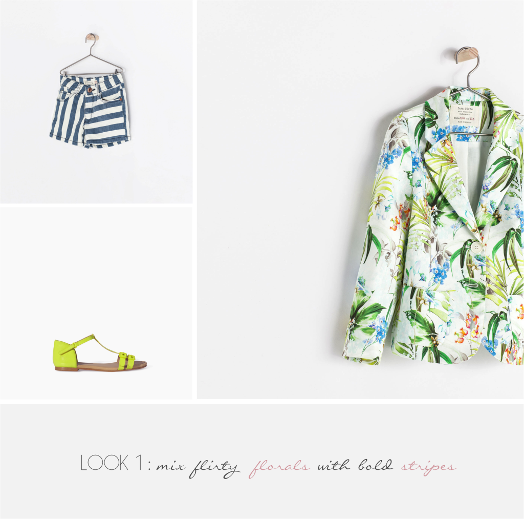 """""""how to wear florals with stripes"""""""