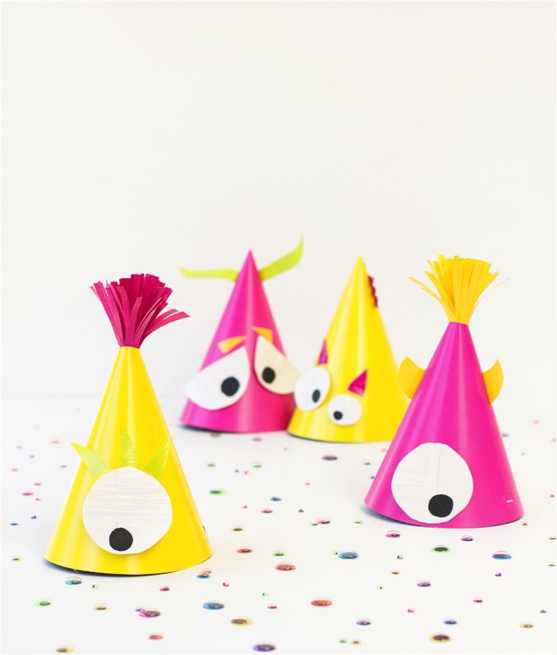 """DIY kids birthday party hat ideas"""