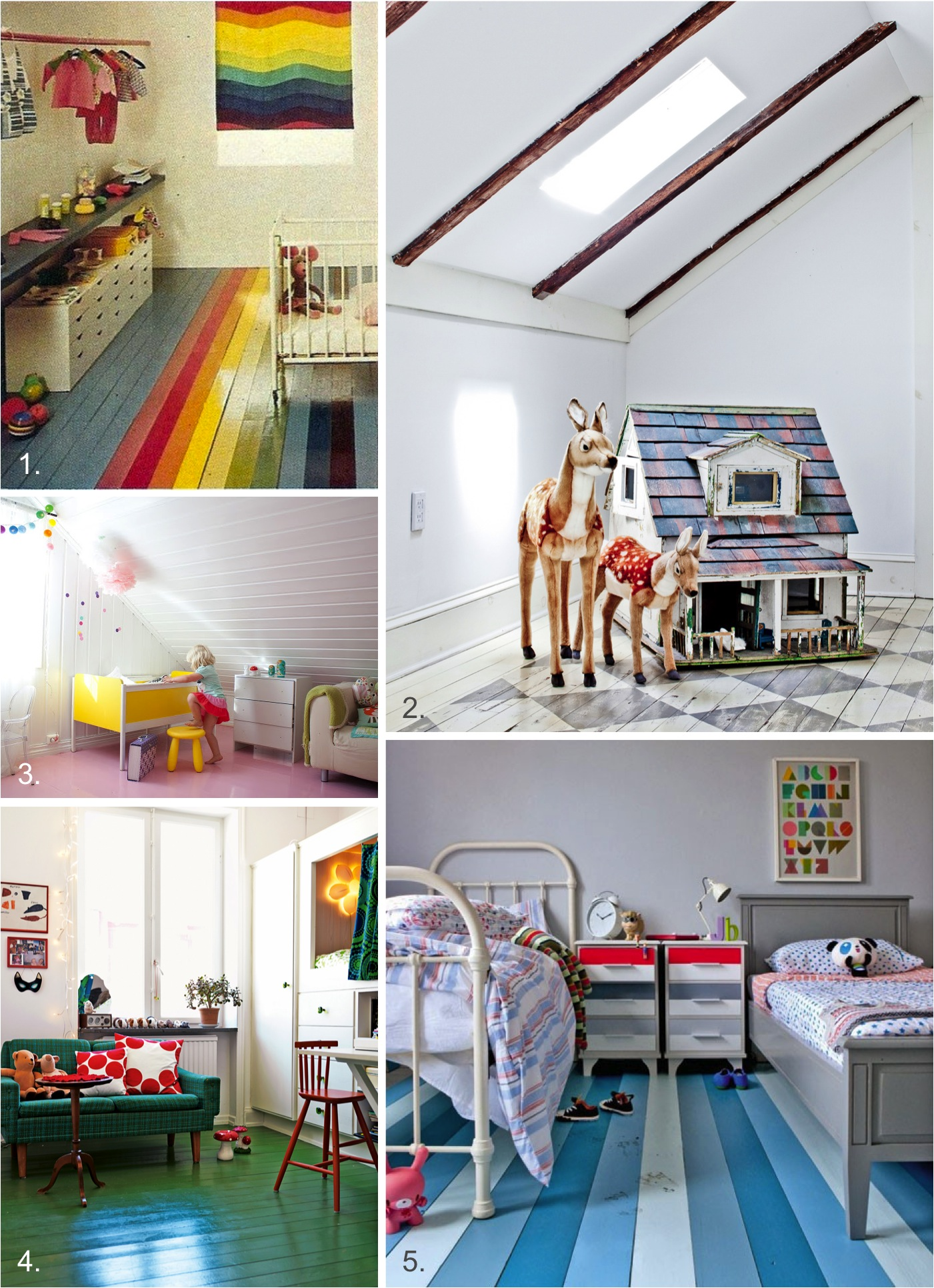"""creative ideas for painting your floors"""