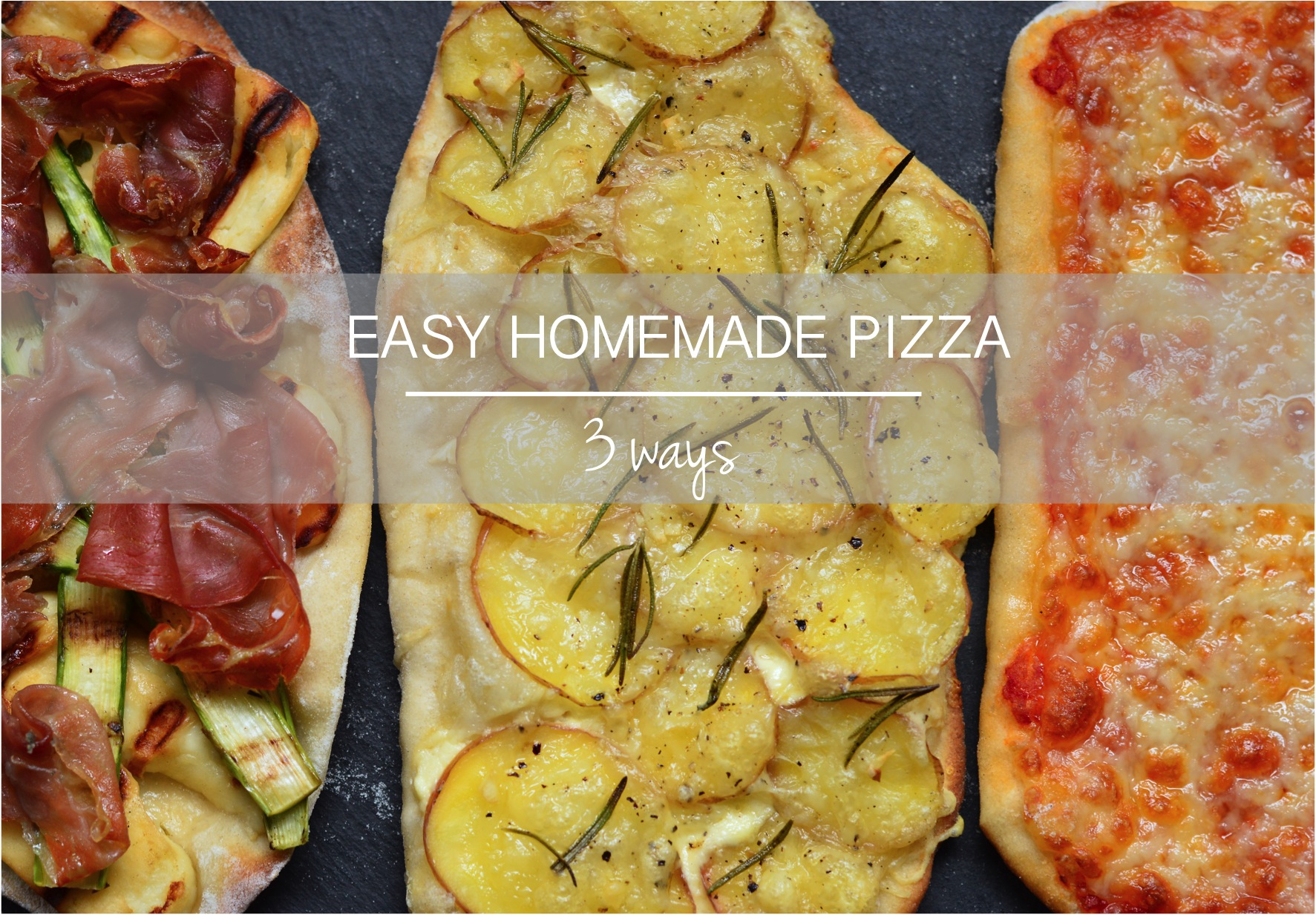 """easiest homemade pizza"""