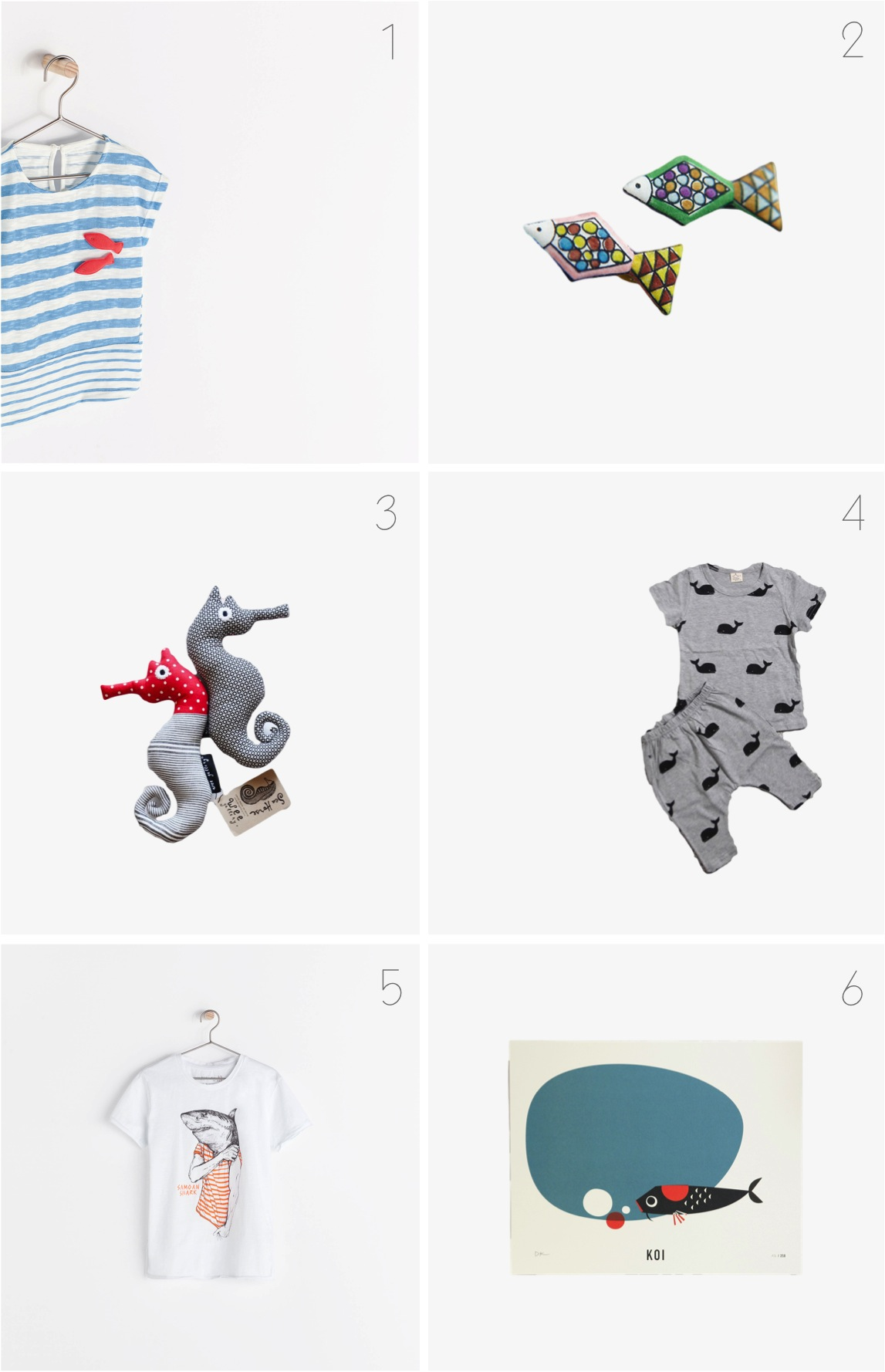 """fish themed kids decor clothes"""