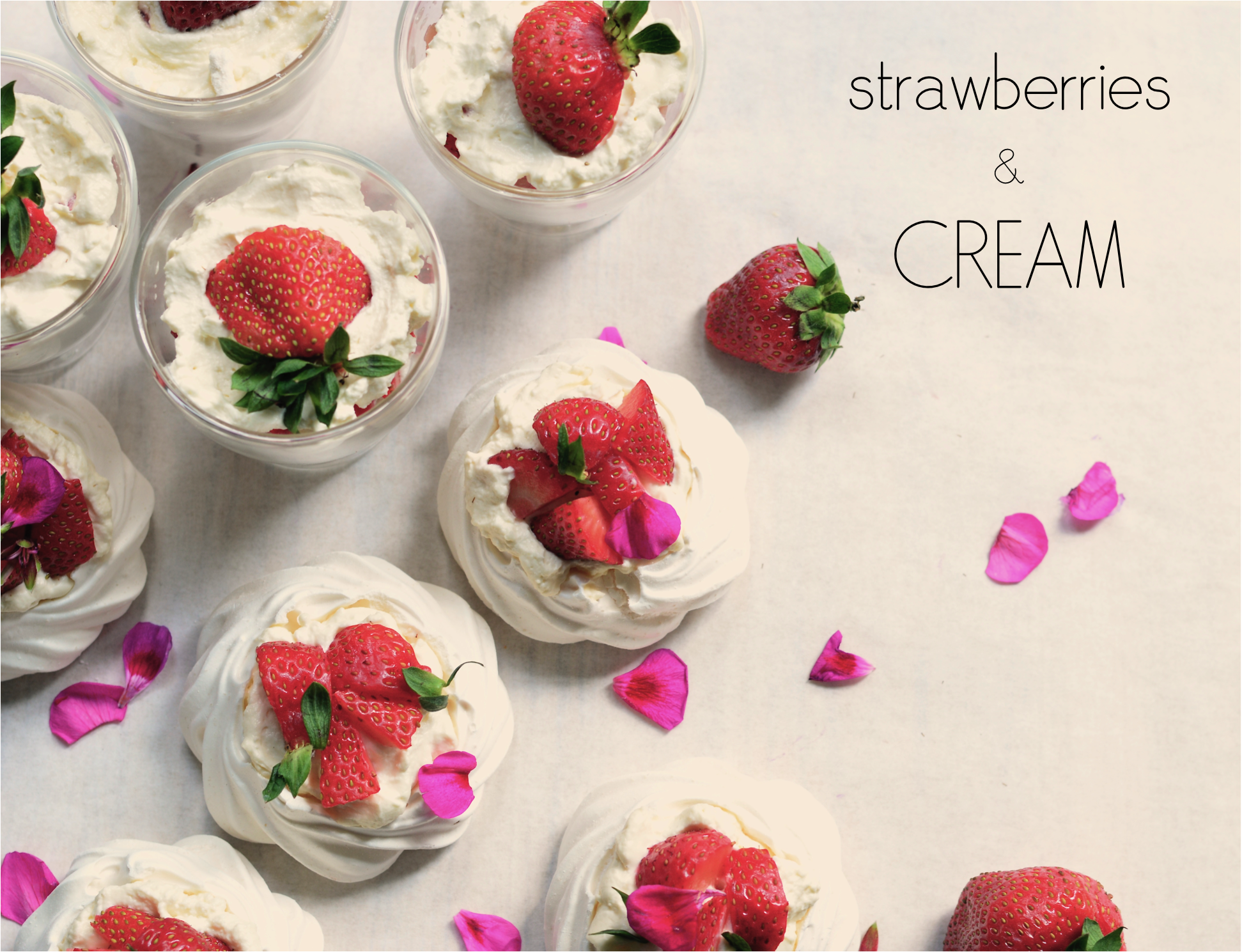 """strawberries and cream presentation"""