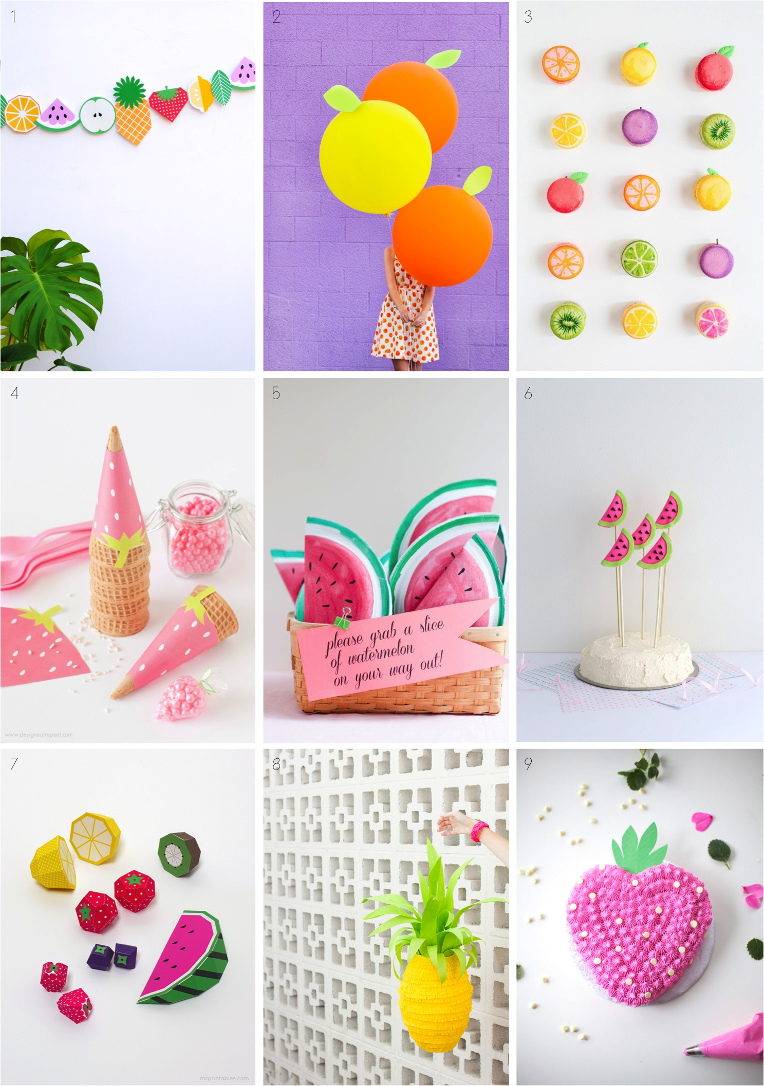 """9 of the best fruit themed summer party ideas"""