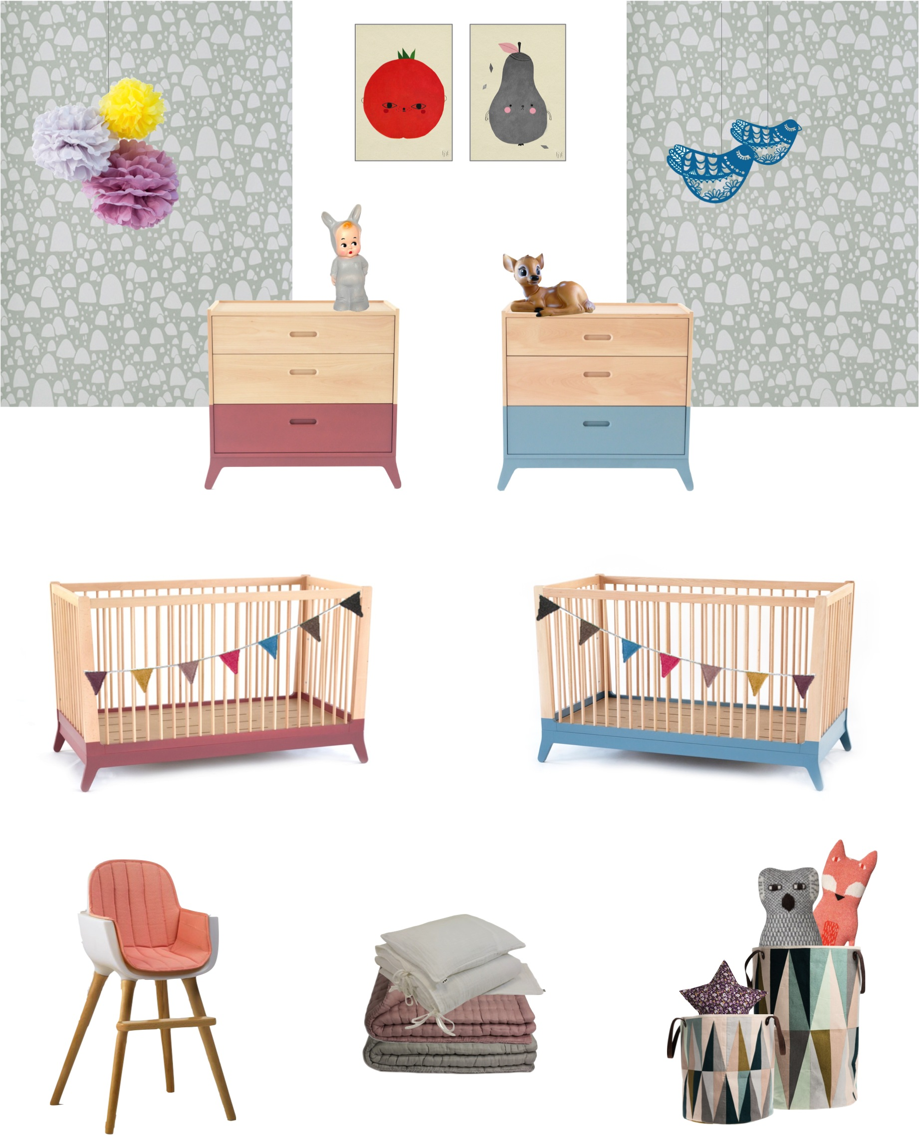 """boy girl shared nursery ideas twins"""