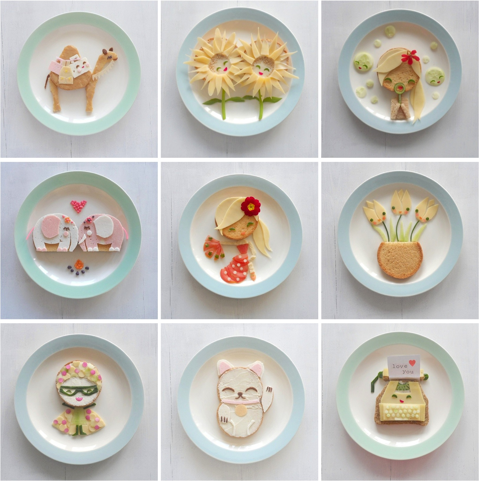 """""""food faces for kids"""""""