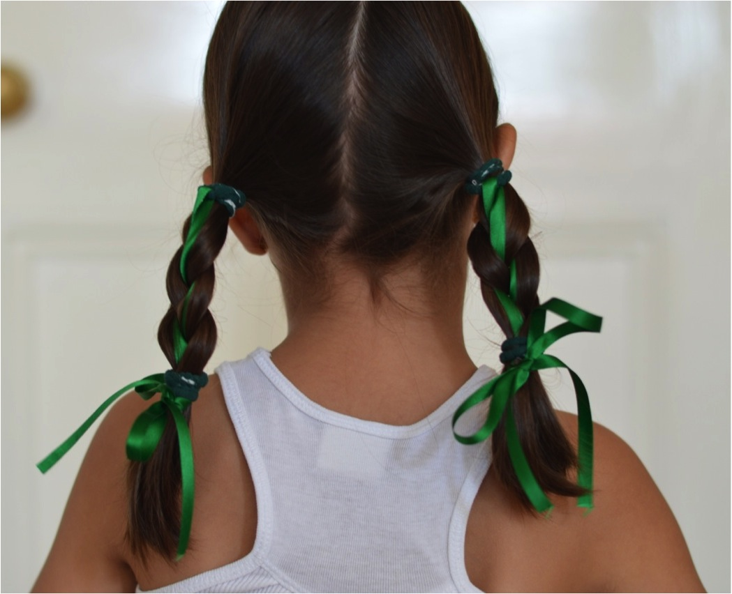 """how to plait your hair with ribbons"""
