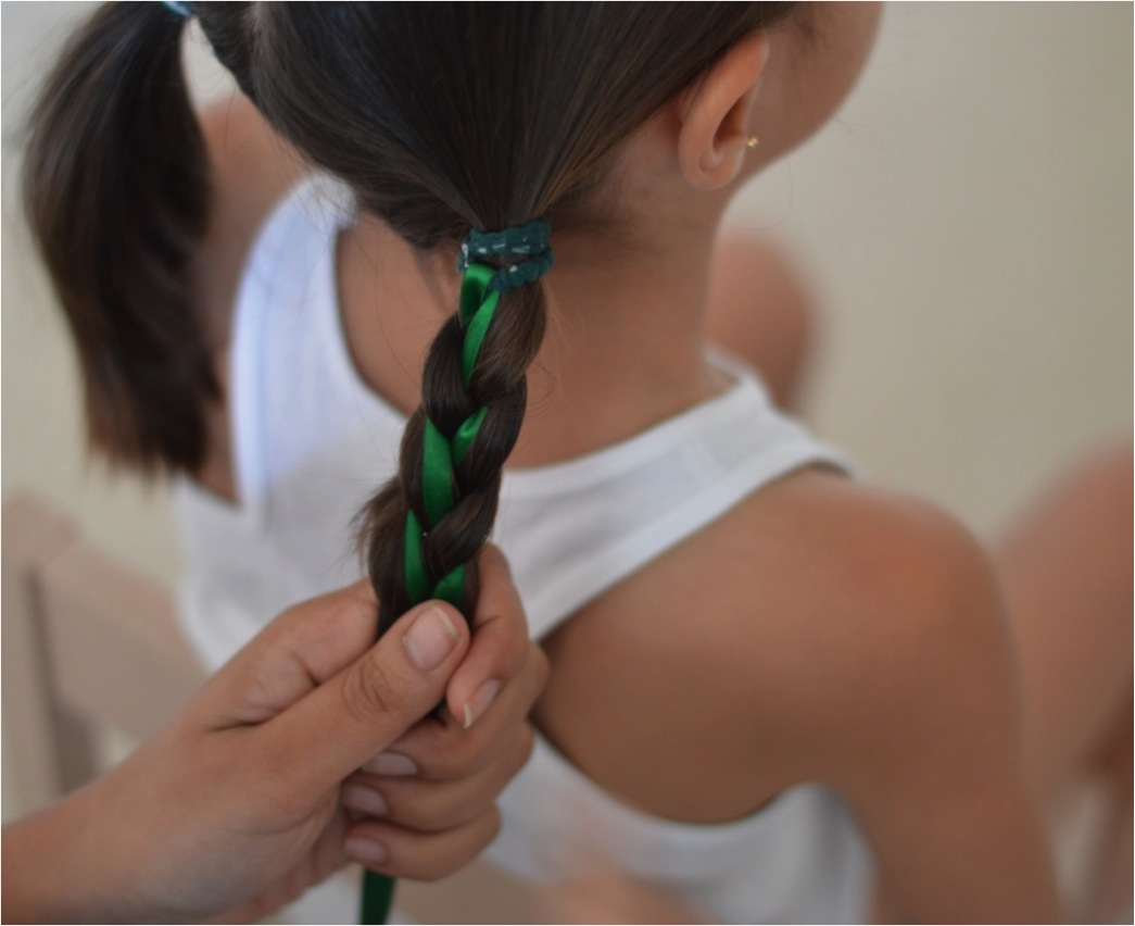 """ribbon braids for kids"""