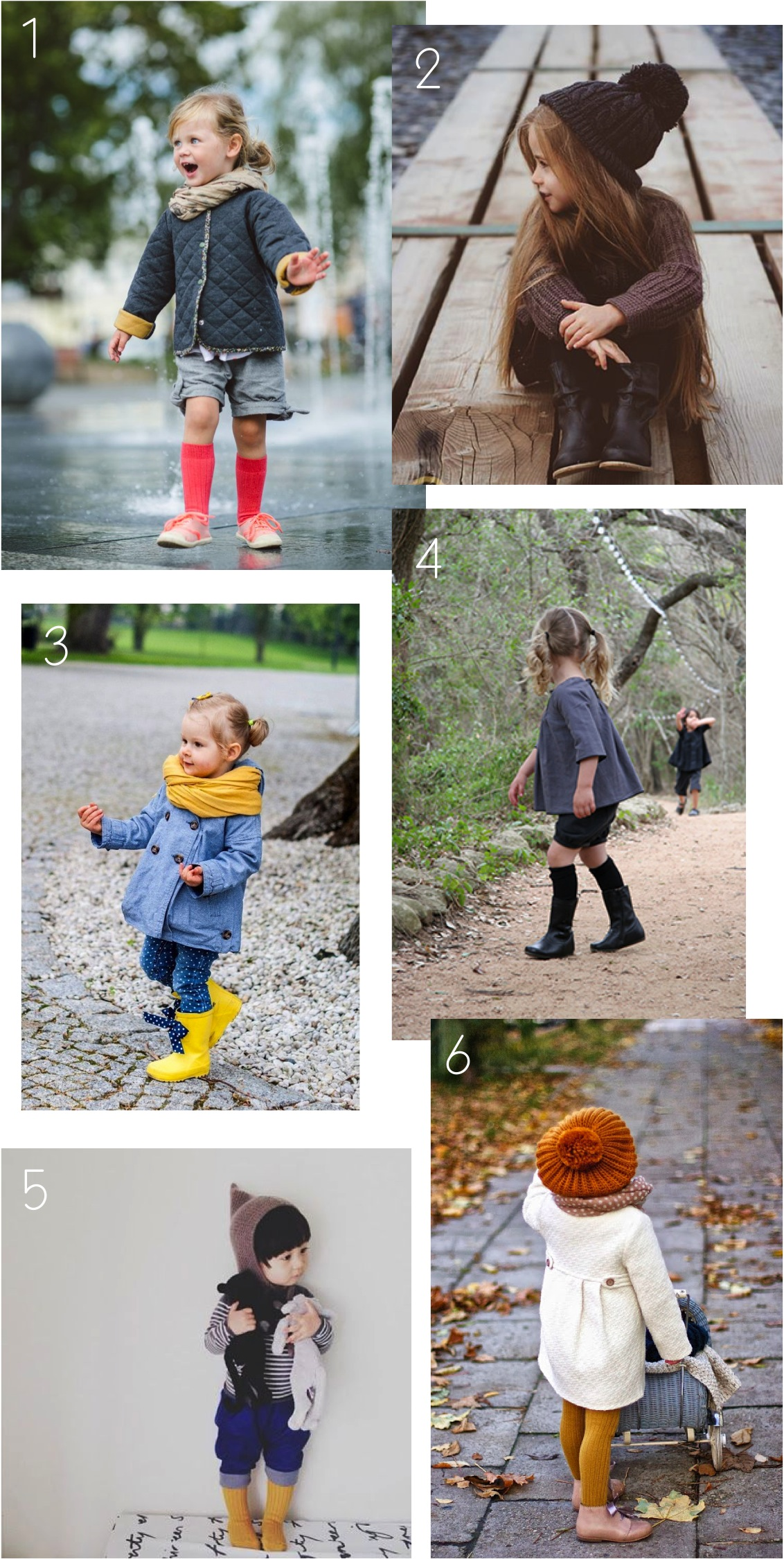 """Autumn fashion inspiration for kids"""