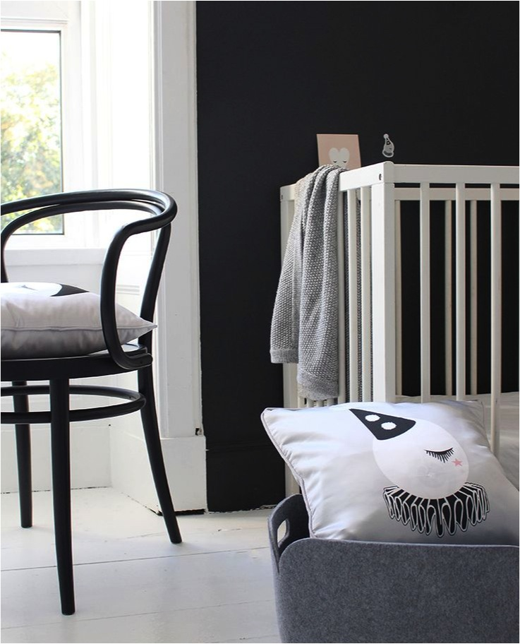 """black walls for a baby nursery"""