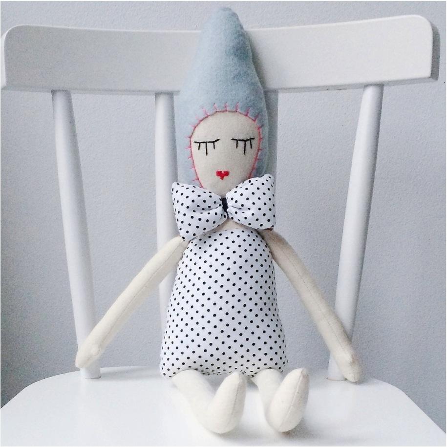 """handmade polka dot doll"""