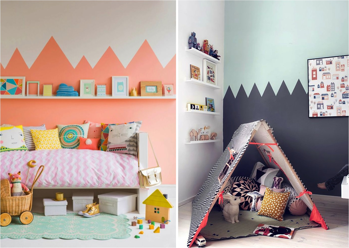 """ideas for creating two tone walls"""