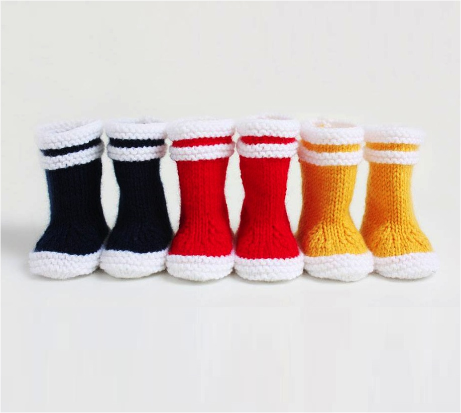 """knitted baby booties"""