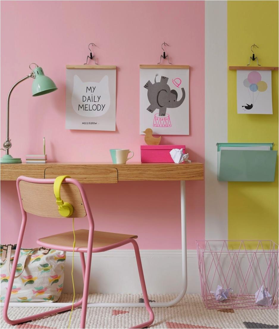 """pastel colour block walls"""