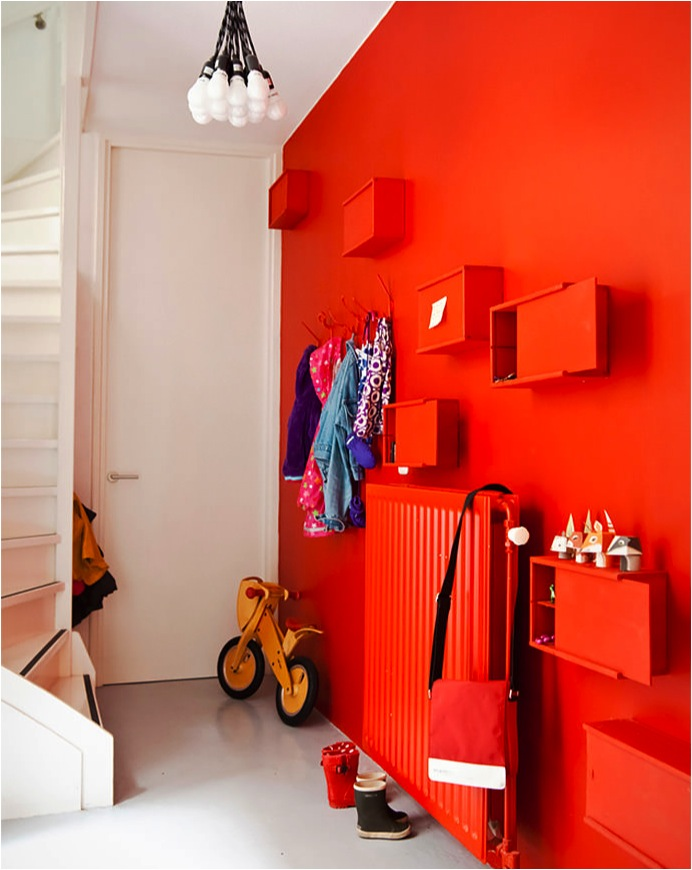 """red statement feature walls"""