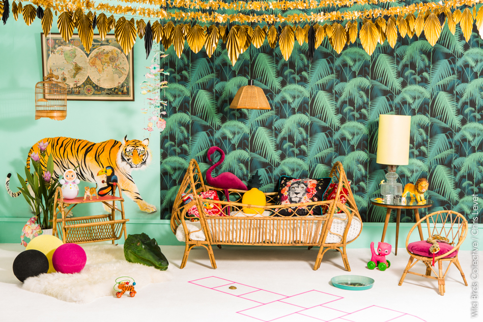 """the best jungle themed kids room"""