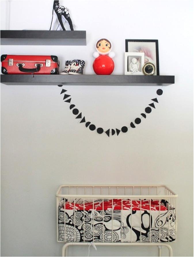 """black and white nursery room decor"""