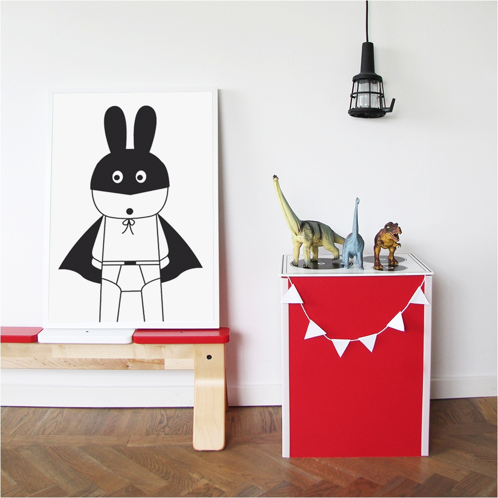 """black white and red kids room decor"""