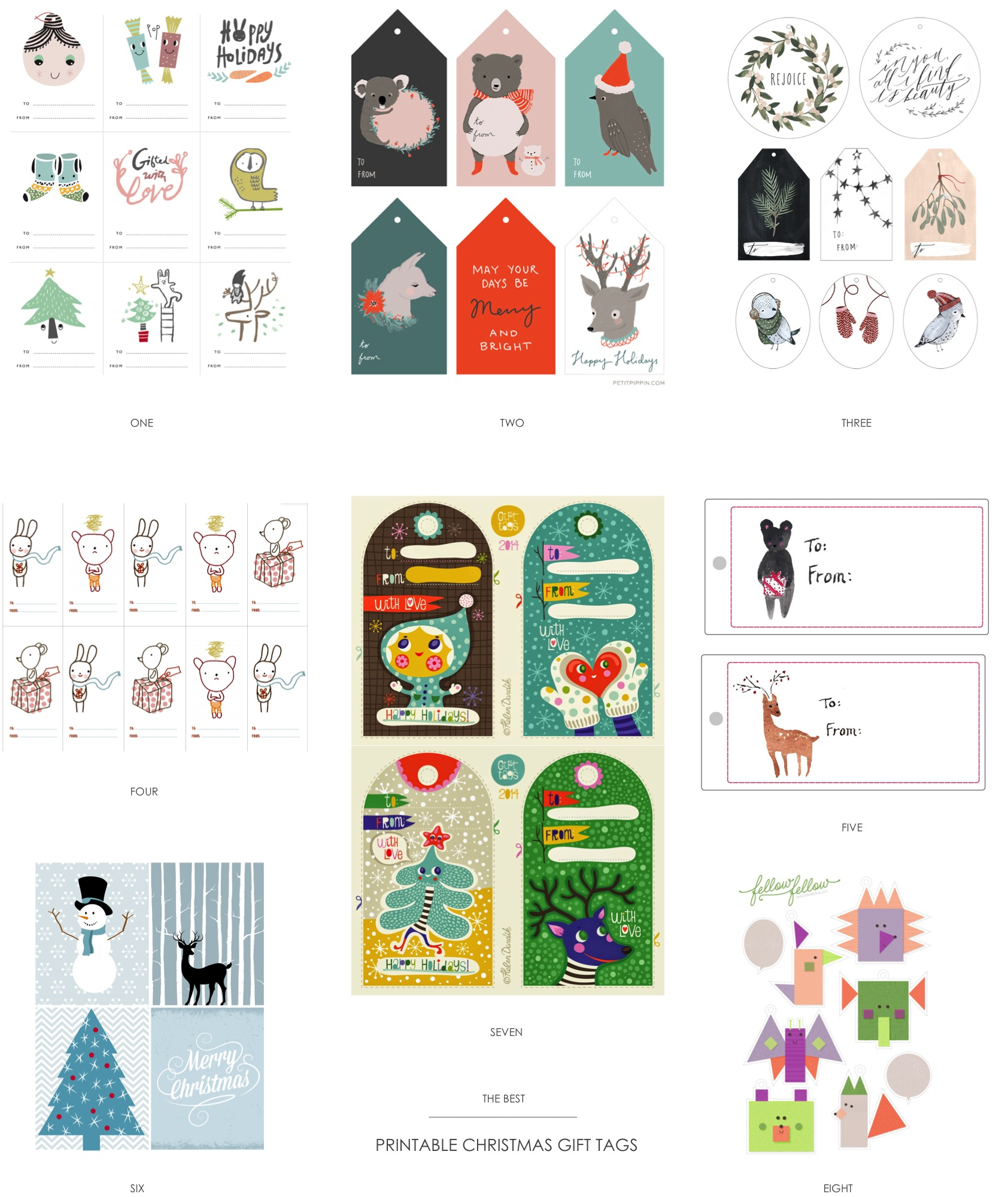 """free printable Christmas gift tags"""