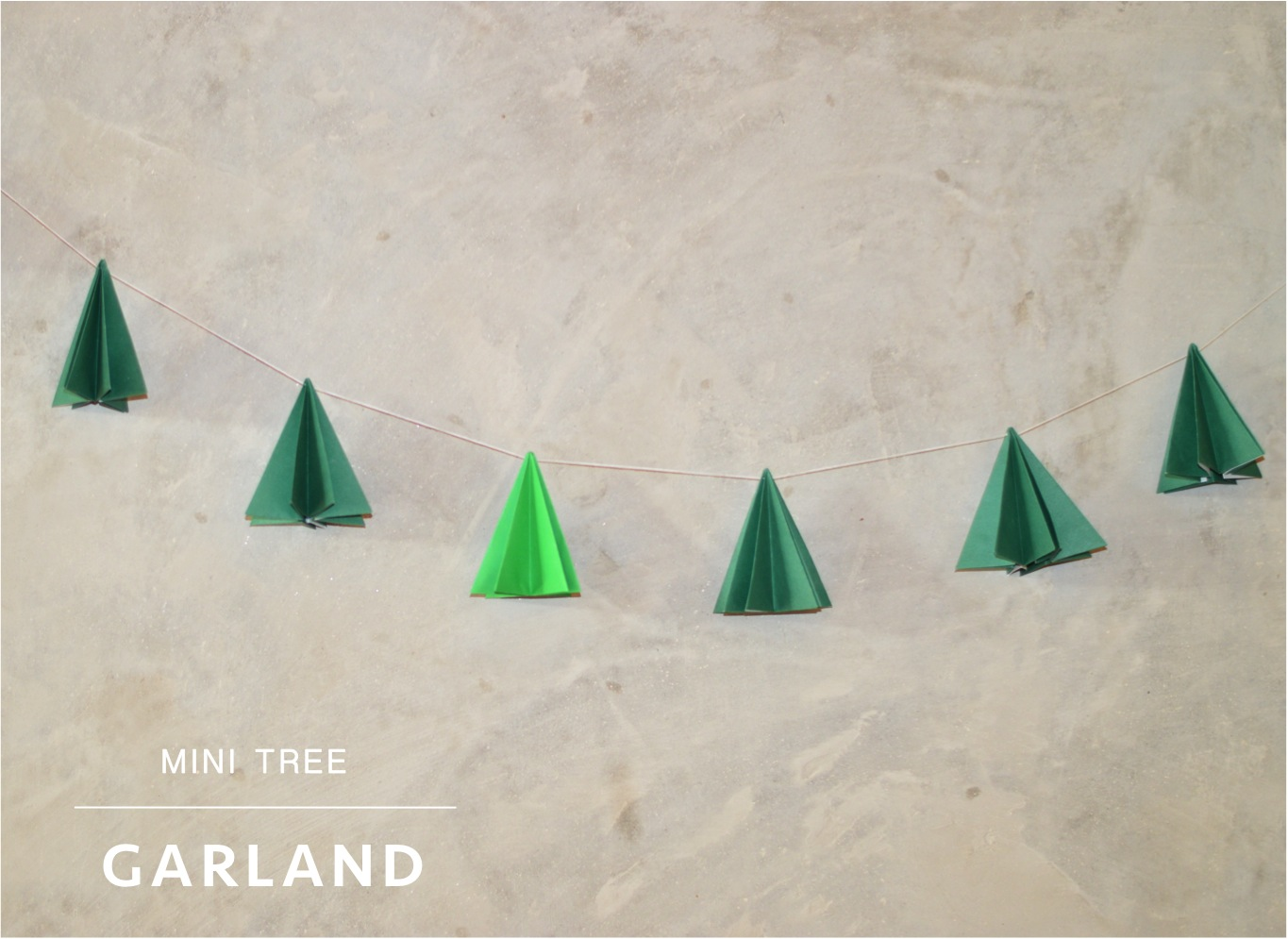 """mini tree DIY Christmas garland"""