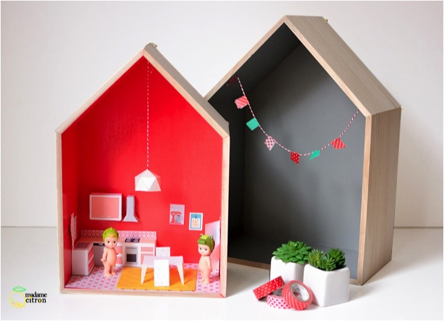 DIY house shelf dolls house
