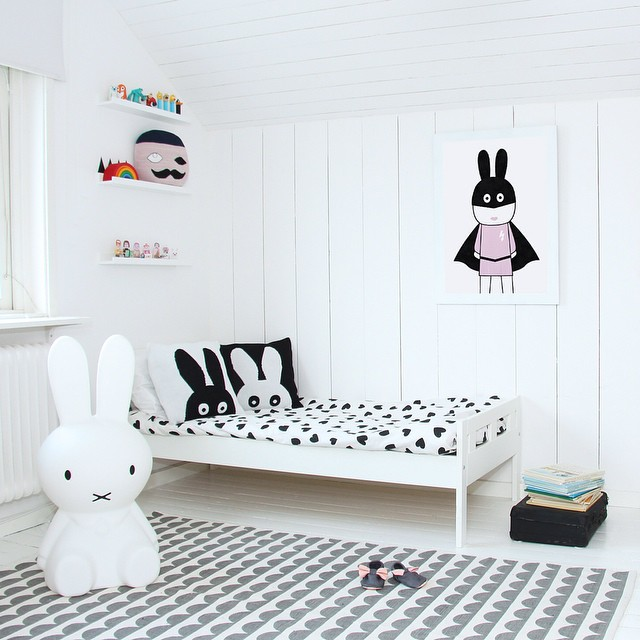 black and white decor ideas kids room