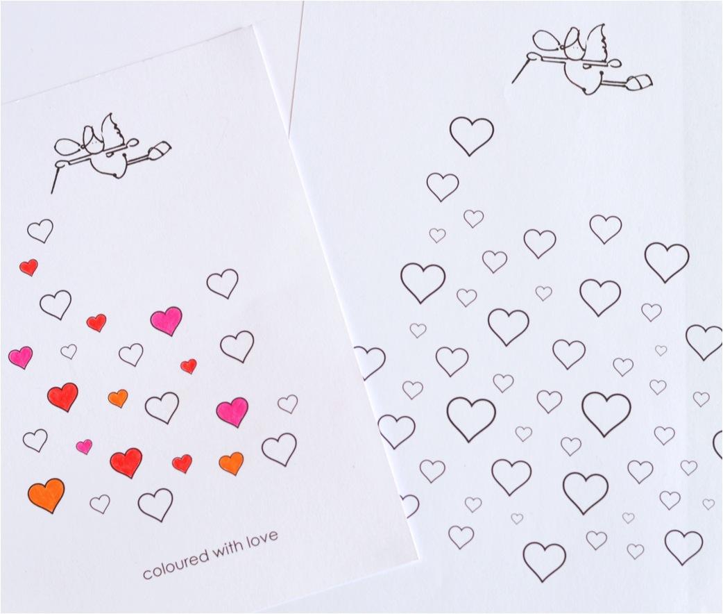 valentines card free printable - ebabee