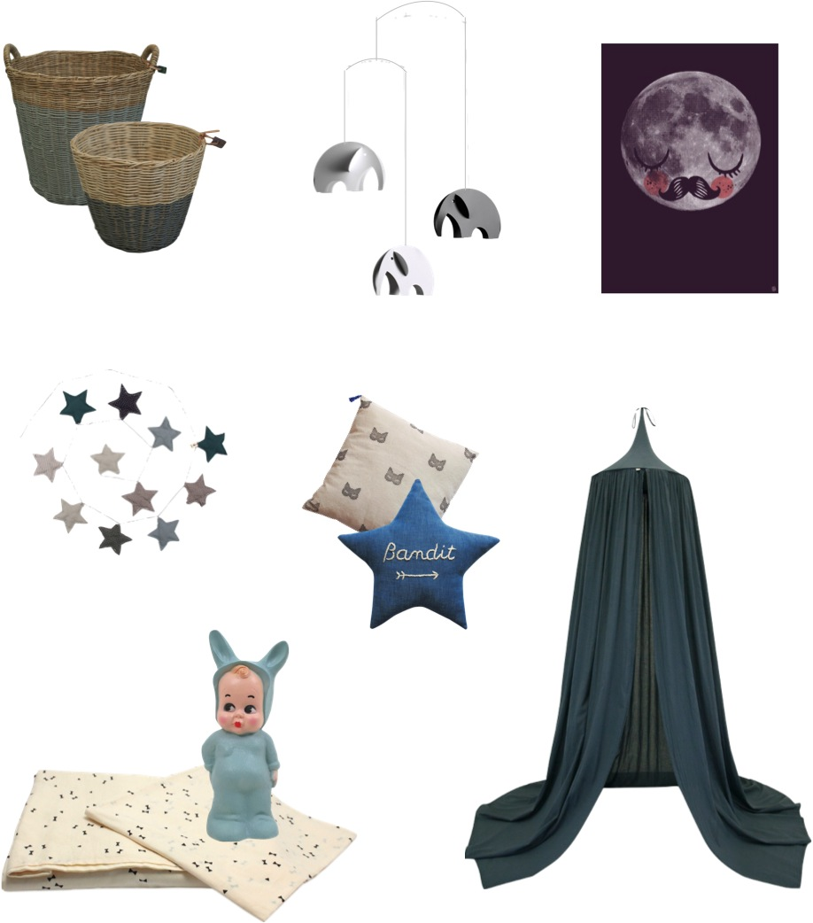 blue baby nursery decor ideas