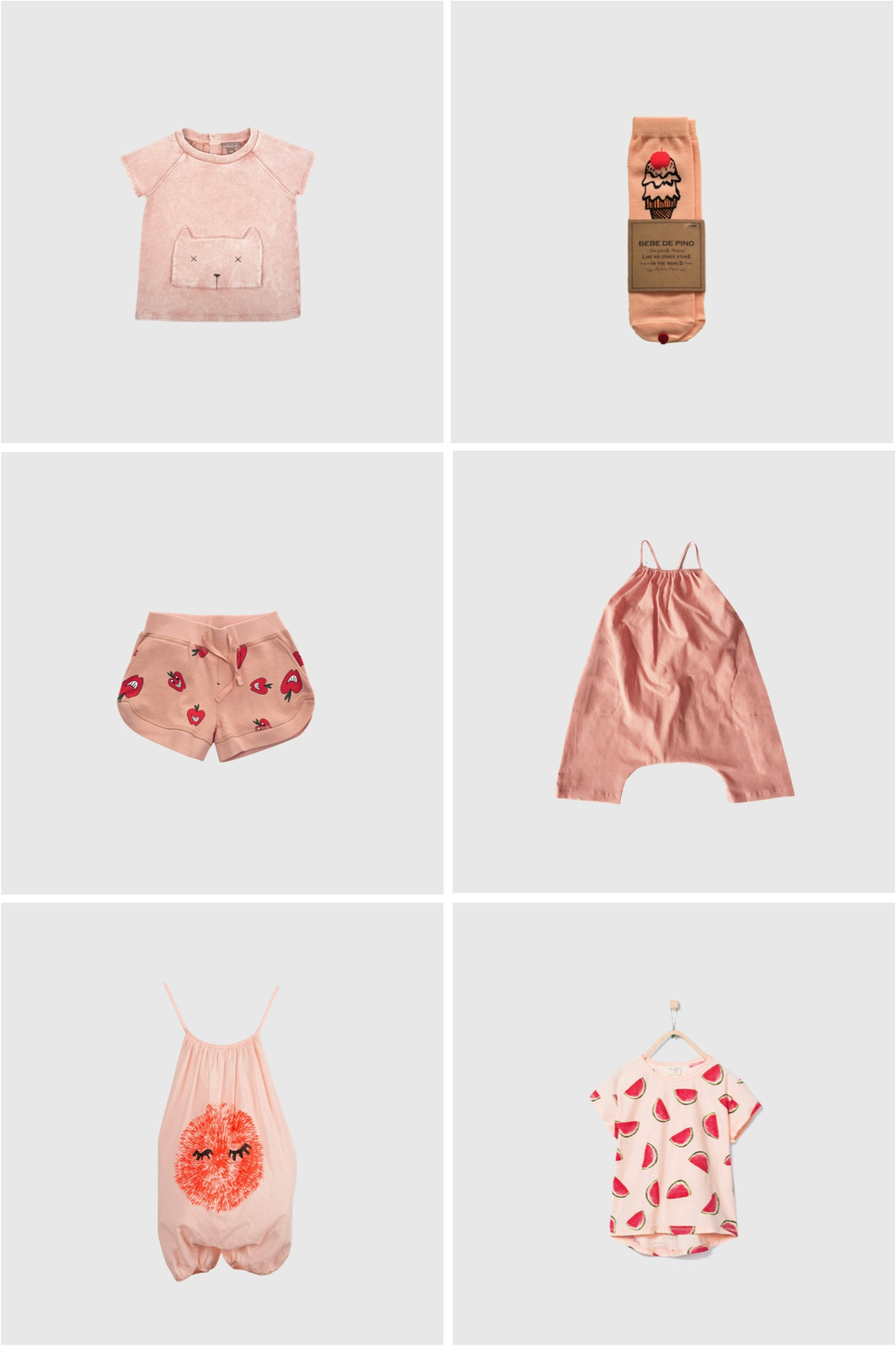 peach summer clothes girls