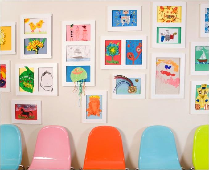 ways to display kids artwork