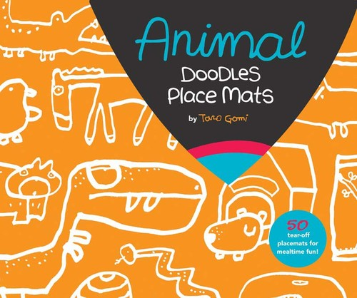 taro gomi animal doodles place mats