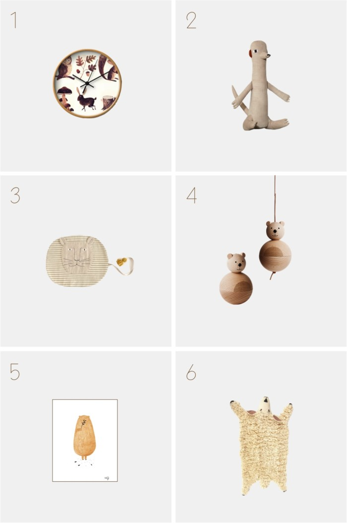 animal themed kids room decorations