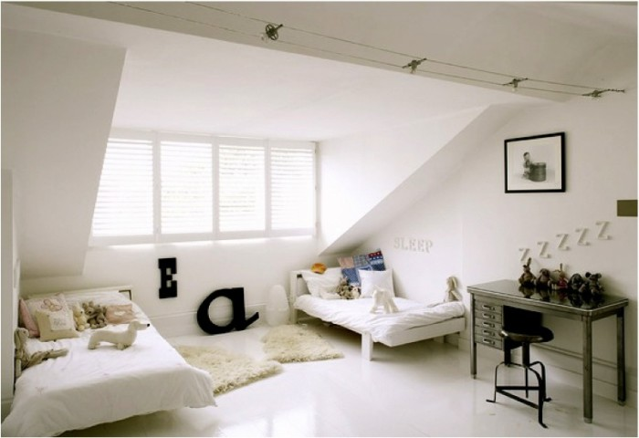 decorating ideas for rooms with sloped ceilings