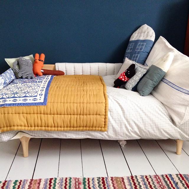 junior bedding set yellow blue