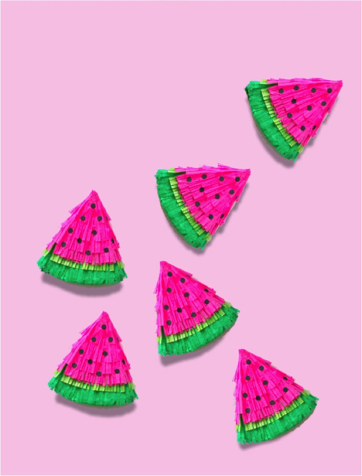 DIY fruit party pinatas