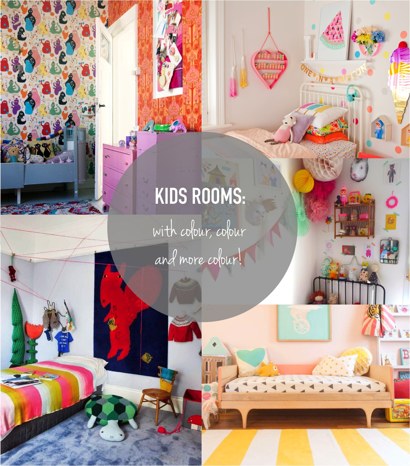 colourful kids bedrooms
