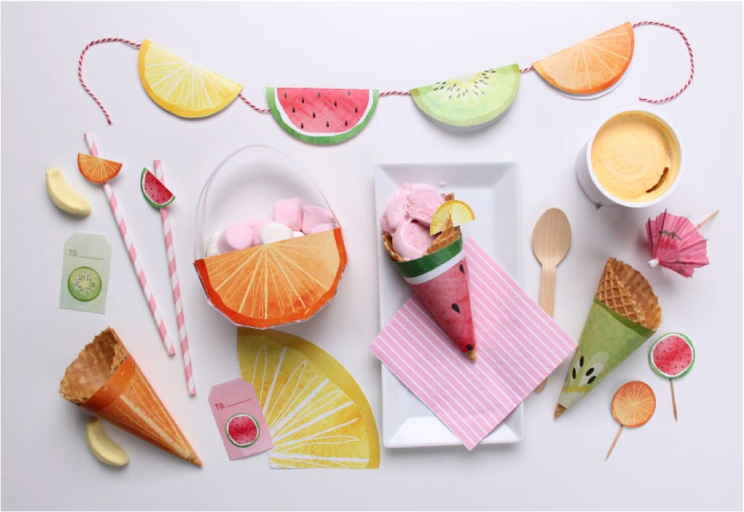 fruit themed party free printables